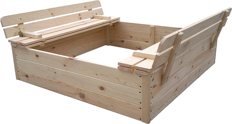 Kokido Outdoor Toys–Sandkasten Holz (kt12812)