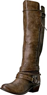 Not Rated Women's Jurupa Riding Boot,taupe,6.5 M US