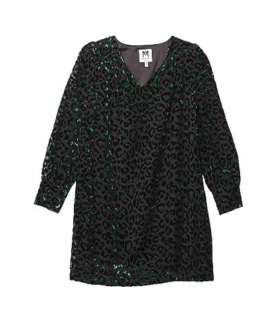 Milly Minis Lylah Velvet Leopard Burnout Dress (Big Kids) Girl