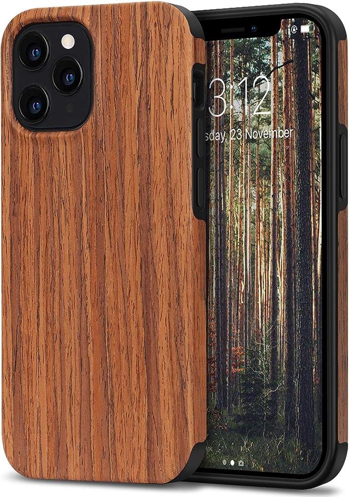 137 opiniones para TENDLIN Funda iPhone 12 Pro MAX Madera y Silicona Híbrido Carcasa Compatible con