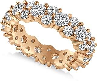 Allurez Garland Diamond Eternity and Wedding Band Ring in 14k Rose Gold (3.00ct)