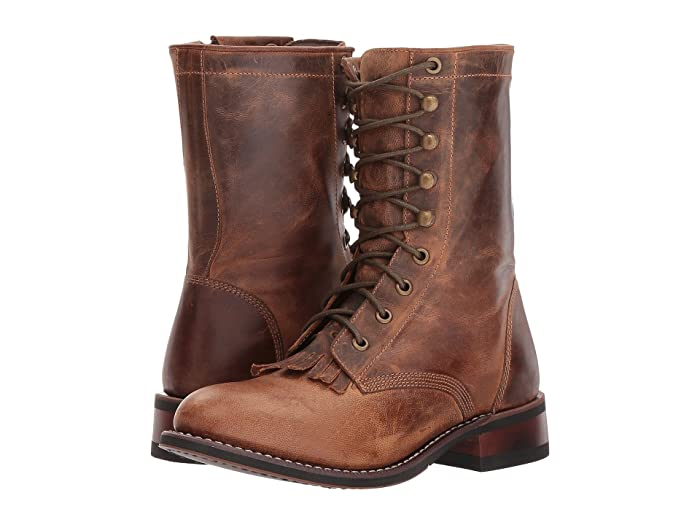 Vintage Boots, Retro Boots Laredo Sara Rose Tan Womens Boots $104.95 AT vintagedancer.com
