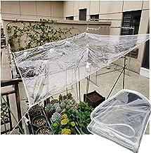 JIANFEI Duidelijk waterdicht dekzeildoek, outdoor Heavy Duty PVC regendicht tuinscherm met oogjes, versterkt rand winddich...