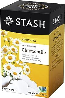 Stash Tea Chamomile Herbal Tea 20 Count (Pack of 6), Premium Herbal Tisane, Sweet Soothing Herbal Tea, Enjoy Chamomile Tea...