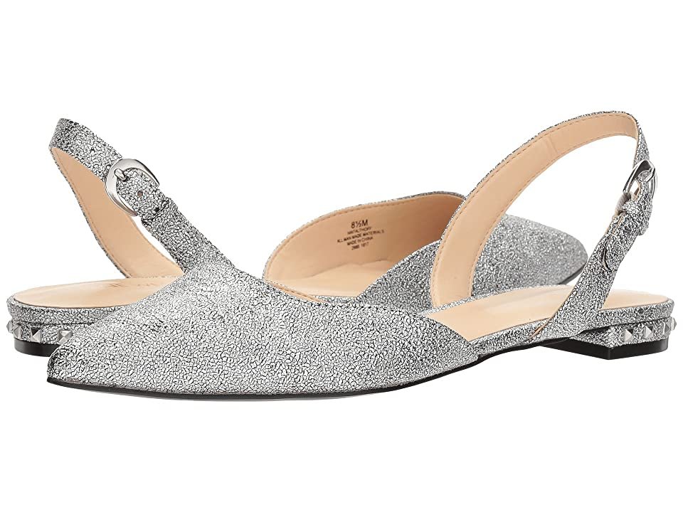Nine West Althoff (Silver Synthetic) Women