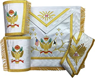 Unique Regalia Masonic SCOTTISH RITE 33rd Degree A.A.S.R Set (Wings Up) MS005