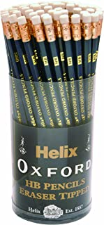Helix Oxford P60272 Eraser Tipped HB Pencils - (pack of 72)