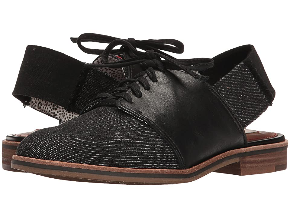 ED Ellen DeGeneres Lavanah (Black/Denim Leather) Women