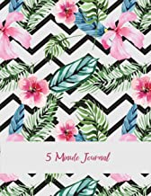 5 Minute Journal: Floral Premium Cover, Daily Mindfulness Planner for Manage Anxiety, Worry and Stress Large Print 8.5 X 1...