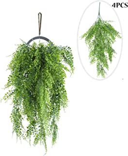 rainbow Store Artificial Plants Vines, 4 Pack 2.7ft Ivy Fake Hanging Plant Plastic Garland Greenery Decor for Wedding Restaurant Wall Indoor Outside Home & Kitchen