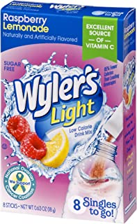 Wyler's Light Singles To Go Powder Packets, Water Drink Mix, Raspberry Lemonade, 96 Single Servings (Pack of 12)