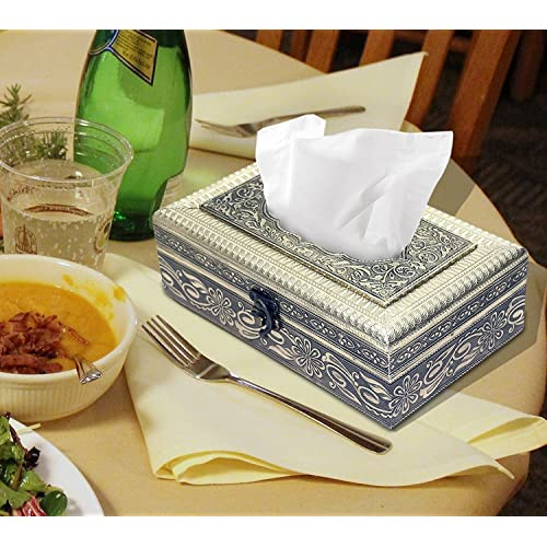 NISUN Attractive and Beautiful Decorative oxodised Tissue Box (Golden)