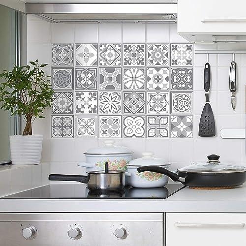 Purbeck Stone Tile Stickers Muraux Auto-Adhésif Peel And Stick Carrelage Cuisine Salle De Bains Dosseret Splashback D...