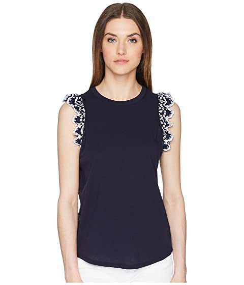 Kate Spade New York Eyelet Sleeveless T-Shirt