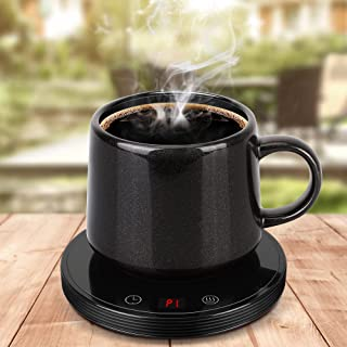 Mug Warmer&Smart Coffee Warmer for desk 8 Hours Auto Shut-Off Coffee, 3 Temperature Settings, Timing setting Shut Off afte...