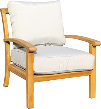 Courtyard Casual Natural Heritage Outdoor Teak Lounge Chair