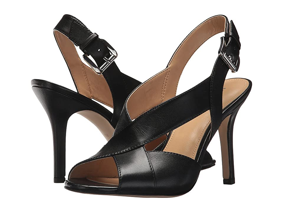 MICHAEL Michael Kors Becky Sandal (Black Smooth Calf) Women