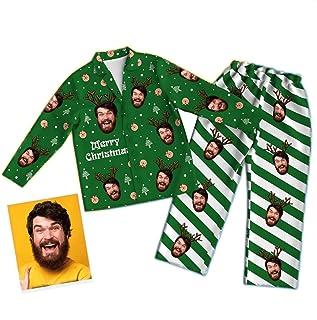 Conjunto De Pijama Personalizado con Foto Personalizada para Mujeres, Hombres, Navidad, Familia, Pijamas, Conjunto A Juego, Divertidos Trajes De Dormir