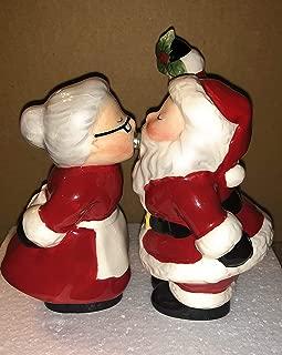 AVON Santa and Mrs. Claus Magnetic Kissing Salt & Pepper Shakers