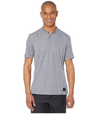 adidas Golf Adicross No Show Polo Shirt (Collegiate Navy Melange/Light Blue Melange) Men
