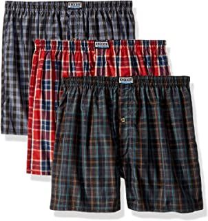 Mens Plaid Boxer Shorts Underwear Pack of 3 Pairs Large