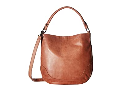 Frye Melissa Hobo (Dusty Rose Antique Pull Up) Hobo Handbags