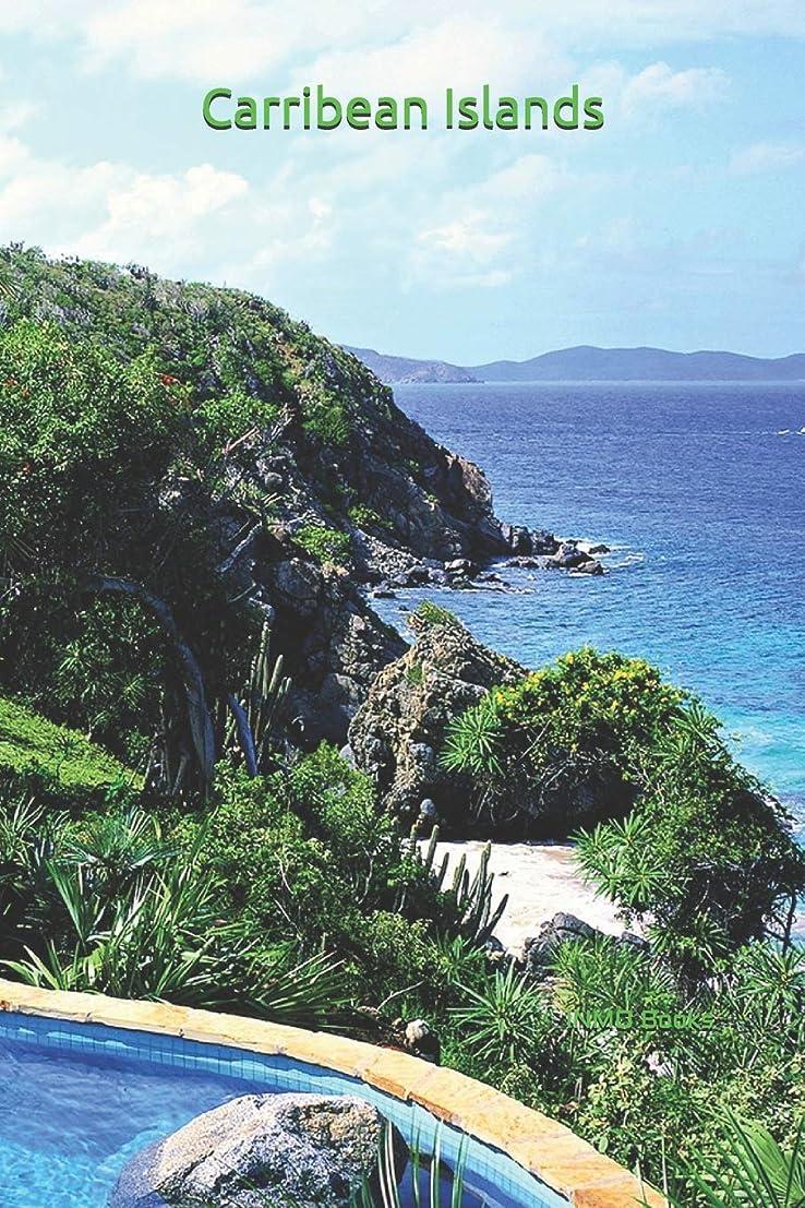 強盗アクロバット集めるCarribean Islands: 6x9 Inch Matte Softcover Journal With 150 Blank Lined Pages