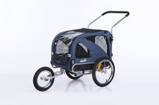 Sepnine & Leopets 2 in1 Medium Bike pet Dog Bike Trailer Bicycle Carrier and Jogger Dual Entry with Blue Color