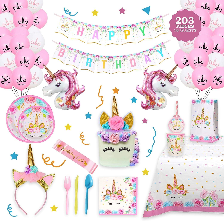 Unicorn Birthday Decorations for Girls Perfect Bombing new work - Tulsa Mall Birth