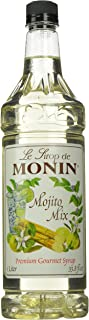Monin Flavored Syrup, Mojito Mix, 33.8-Ounce Plastic Bottles (Pack of 4)