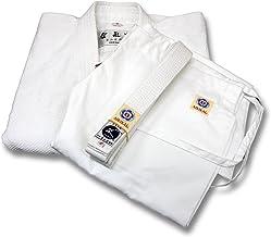 【合気道】晒合気道衣上下帯3点(道着・股下・帯)セット【ホワイト】