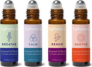 Rescue Essential Oil Roller Set - Tea Tree Melaleuca, Muscle Relief, Peace and Calming, Breathe Essential Oils - Easy Application, Pre-Diluted Roll-On - Leak-Proof Rollerball - Stocking Stuffers!