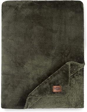 UGG Whitecap Plush Flannel - Oversized Throw Blanket, Forest