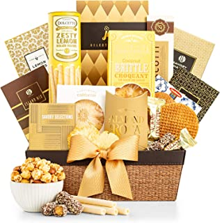 GiftTree As Good As Gold Gourmet Food & Snack Gift Basket | Includes Almond Roca, Sweet Popcorn, Bourbon Creme Caramels & More | Great Present for Christmas, Birthday, Thank You …