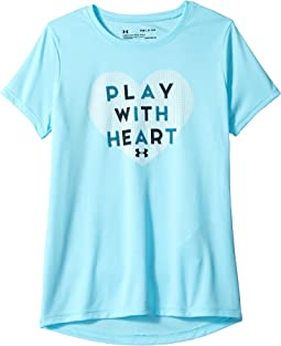 UA Play with Heart Short Sleeve Tee (Big Kids)
