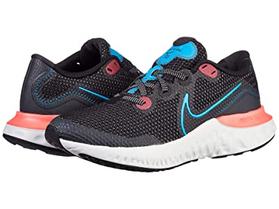 Nike Kids Renew Run (Big Kid) (Black/Laser Crimson/Dark Smoke/Laser Blue) Kids Shoes