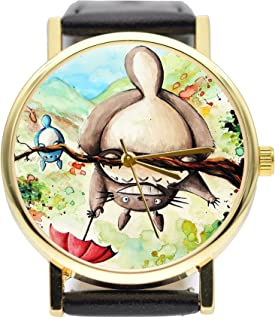 Totoro Painting Watch Vintage Style Watch