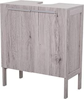 kleankin Mueble Bajo de Lavabo para Baño Compacto con 2 Puertas de Armario 60x30x70 cm
