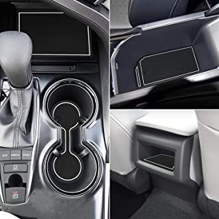Marchfa Door Liner Cup Holder Interior Mats Custom Fit for Toyota Camry 2018 2019, Door Accessories Cup Holder Inserts (16 PCS) (White)