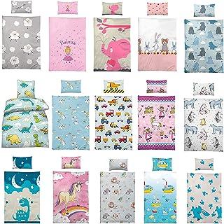 Kinder Bettwäsche 100 x 135 cm  Kissen 40 x 60 cm 100% Baumwolle, mit verschiedenen Motiven - Kinderbettwäsche-Set, Babybettwäsche, Süsse Monster
