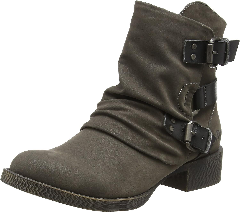 Blowfish Womens Korrekt Grey Fawn Gunmetal Dyecut PU Brown Ankle Boots Size