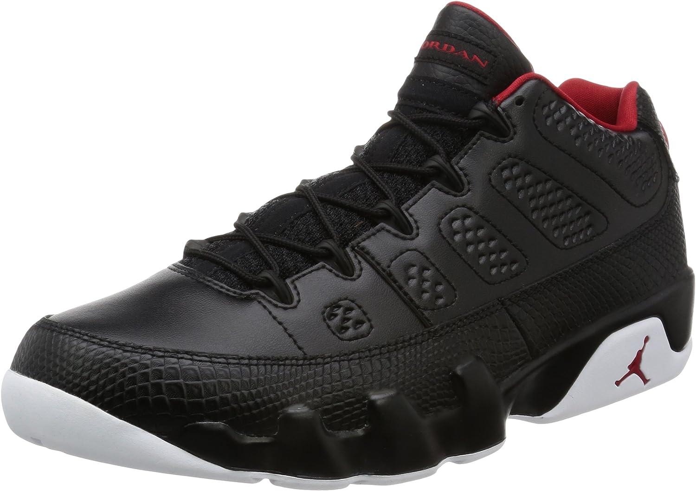 Nike Jordan Mens Air Jordan 9 Retro Low Black Gym Red White Basketball shoes 11 Men US