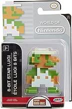 Jakks Pacific Year 2016 World of Nintendo Super Mario Bros. Series 2-1/2 Inch Tall Figure : 8-BIT STAR LUIGI