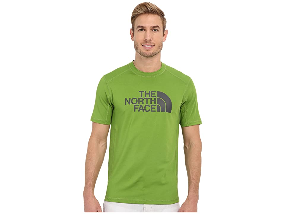 The North Face Short Sleeve Sink or Swim Rashguard (Vibrant Green/Asphalt Grey (Prior Season)) Men