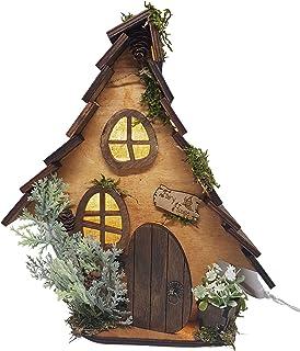 Lampada di legno casa delle fate, luce dimmerabile. Prodotto fatto a mano