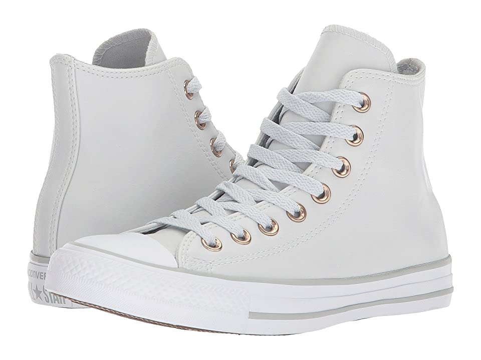Converse Chuck Taylor(r) All Star Craft Neutral Leather Hi (Pure Platinum/White/Mouse) Women