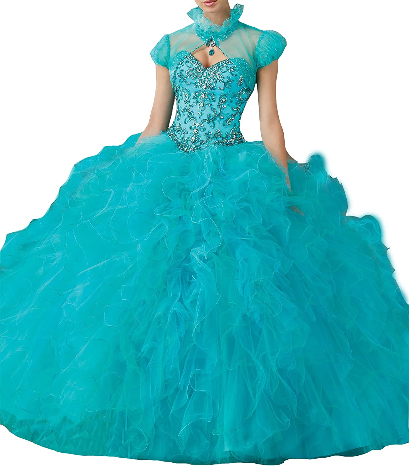 TuanYuan Sweet 16 Pageant Women Vestido de Ball Gowns Quinceanera Dresses Jacket