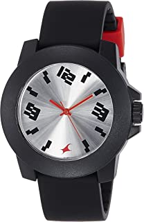 FASTRACK Unisex's Silver Dial Color Plastic Strap Watch - 38021PP08