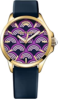 Juicy Couture Daydreamer Women's Quartz Watch with Purple Dial Analogue Display and Purple Rubber Strap 1901389