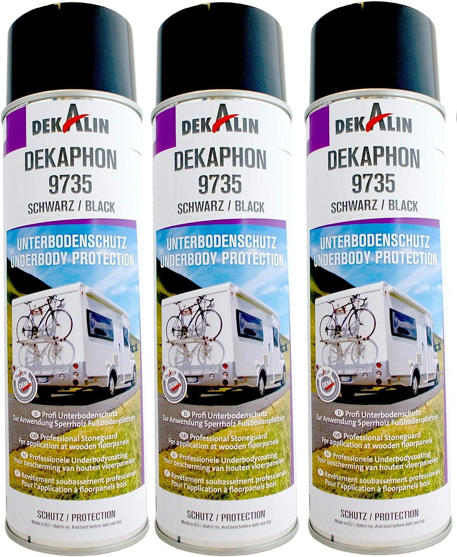 2 X Dekalin Dekaphon 9735 Underbody Protection Resistant Protective Coating For Campers Caravans Motorhomes 500 Ml Black Business Industry Science